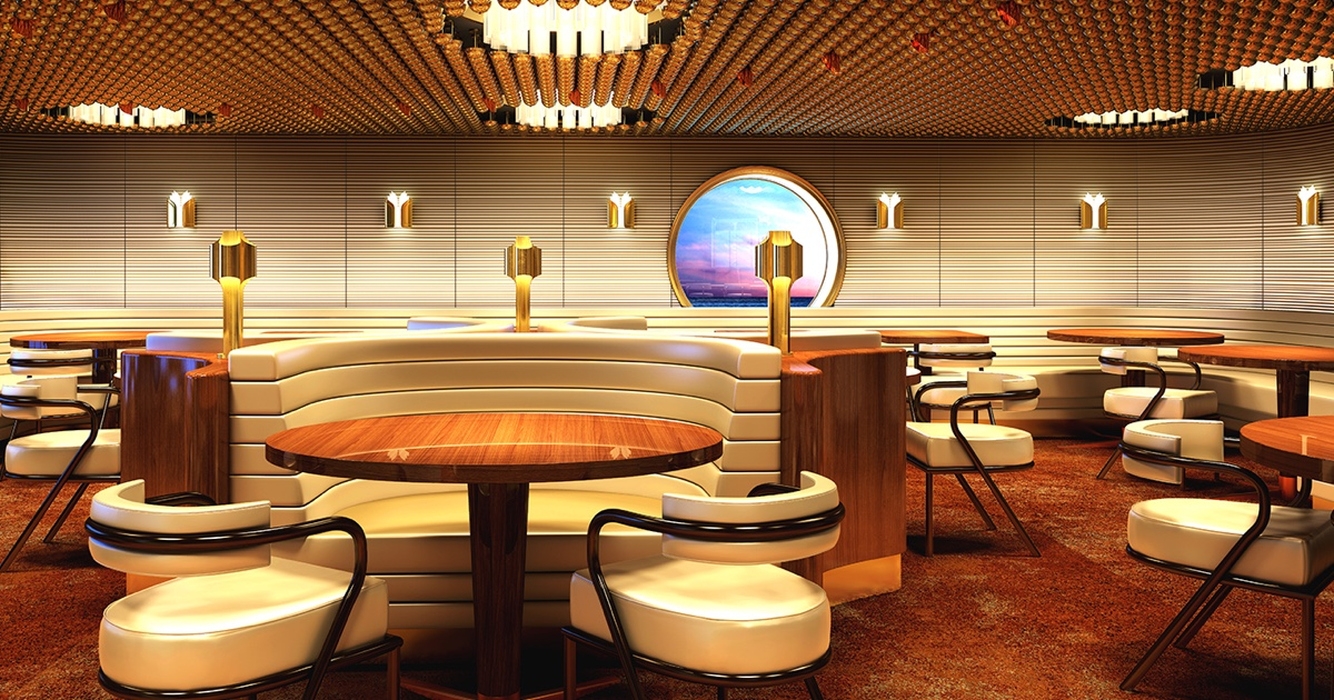 A yacht-inspired boutique hotel at sea