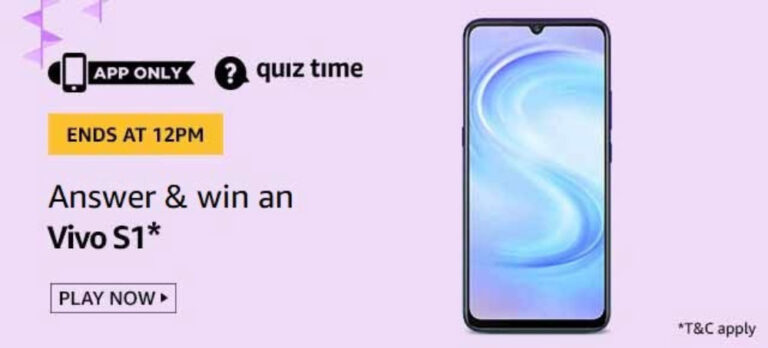 Amazon Quiz Answers 24 May 2020 – Win Vivo S1