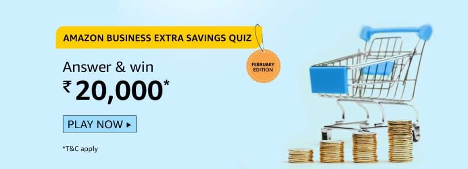 Amazon Quiz Answers 12 February 2021- Win Rs. 20000