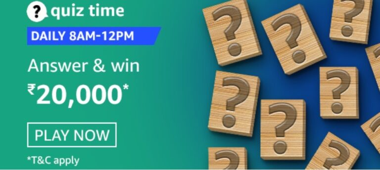 Amazon Quiz Answers 15 February 2021- Win Rs. 20000