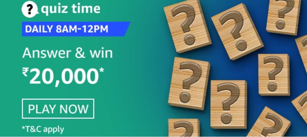 Amazon Quiz Answers 10 February 2021- Win Rs. 20000