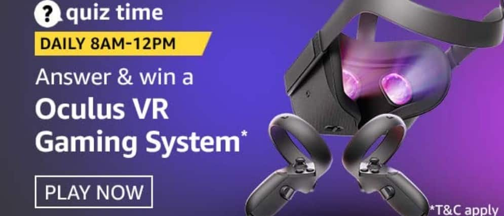 Amazon Quiz Answers 7 February 2021- Win Oculus VR Gaming System
