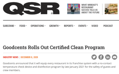 Goodcents Certified Clean Program Featured in QSR Magazine!