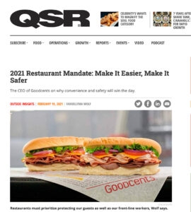 image of QSR article featuring Goodcents and CEO Farrellynn Wolf