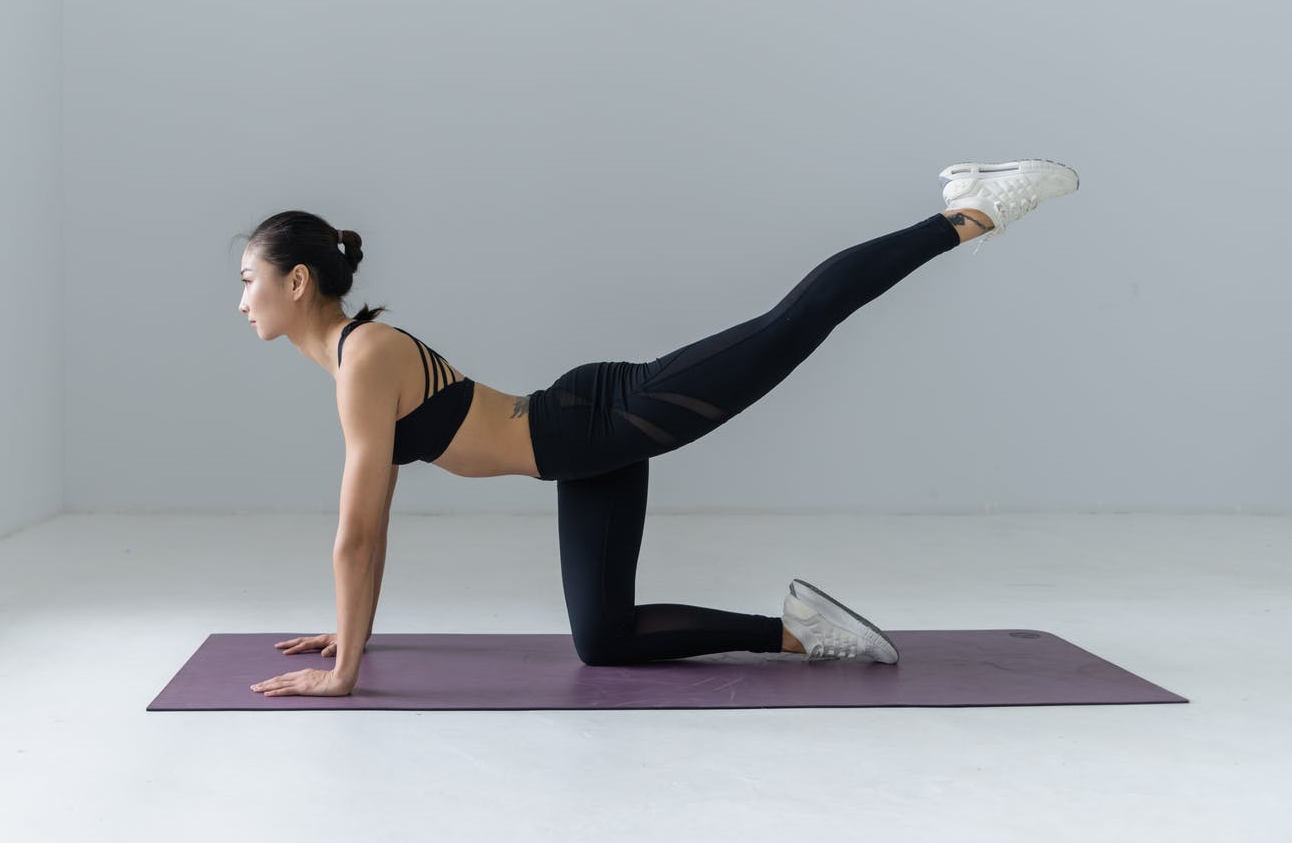 woman doing low back exercise