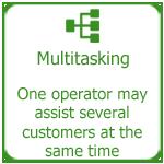 Efficient staff multitasking, Thakur International