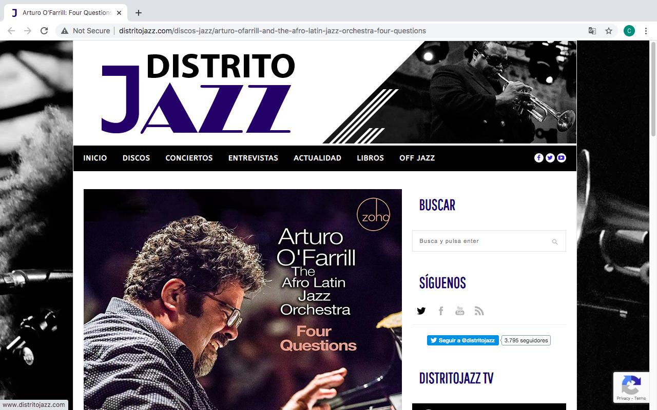 [distritojazz.com] Four QuestionsArturo O'Farrill y la Orquesta de Jazz Afrolatino