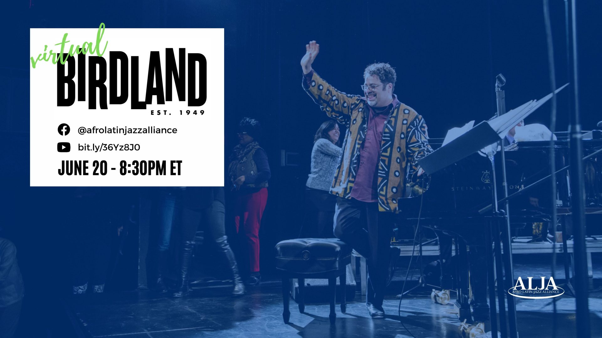 Virtual BirdlandArturo O'Farrill + Afro Latin Jazz OrchestraSunday, June 20, 2021 @ 8:30 pm ET | 5:30 pm PT
