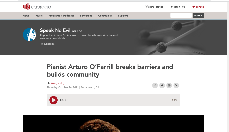 [capradio.org] Breaking Barriers + Building CommunityArturo O'Farrill