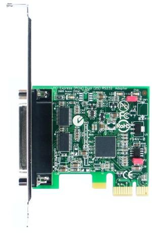 HDWP2232950E LF808KB 2 Port PCI Express Multiport Serial Card