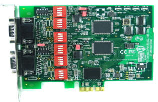 HDWP242285950E LF686KB PCI Express RS422 RS-422RS485 RS-485 2 Port Multiport Serial Card