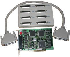HDWP8232550I 8 Port PCI RS232 RS-232 serial multport card