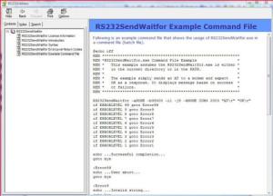 RS232SendWaitfor - Send/Receive String Serial Port query