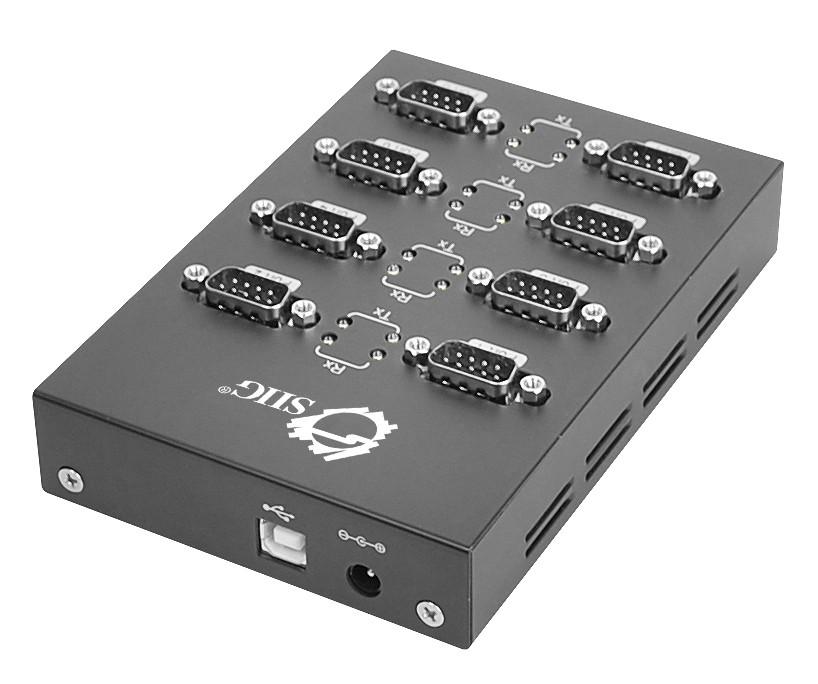 ju-sc0211-s1 8 port usb to rs-232 serial hub rear