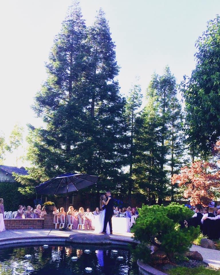 backyard DIY wedding outdoor northern california
