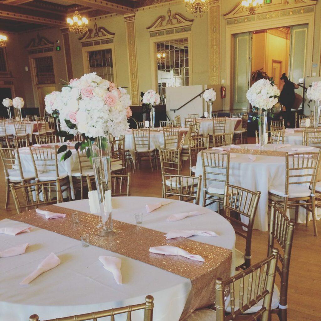 sacramento indoor wedding reception day of coordinator