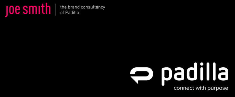 black background with Padilla and Joe Smith company logos