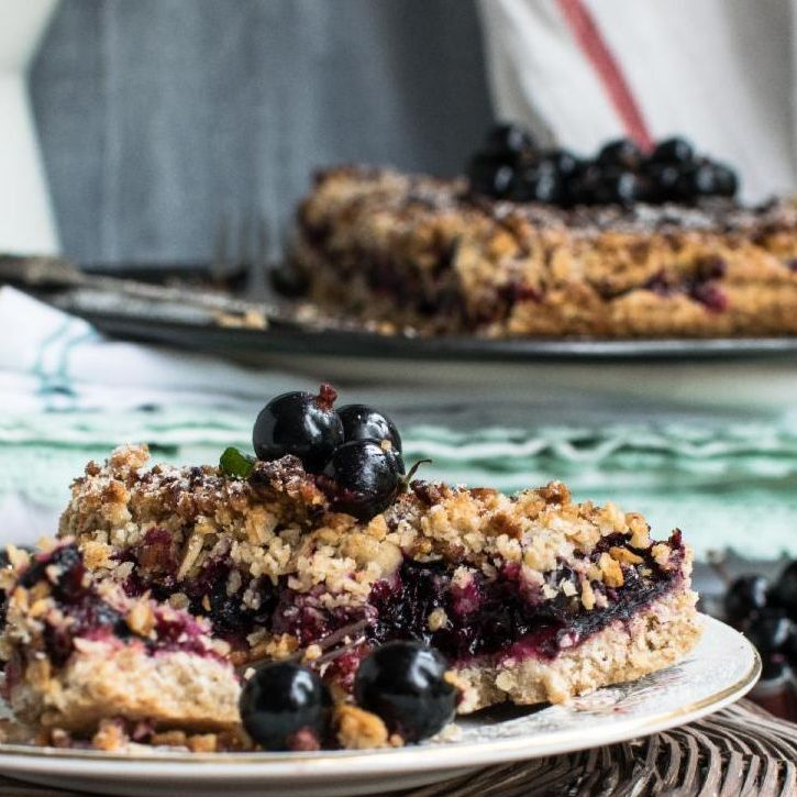 blueberry cobbler on a plate