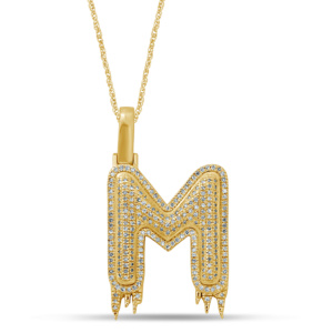 10K 0.38-0.52CT D-PENDANT RDS MP INTIAL M