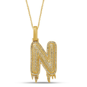 10K 0.37-0.52CT D-PENDANT RDS MP INITIAL N