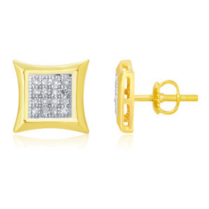 10K 0.10CT D-EARRINGS RDS PAVE KITE