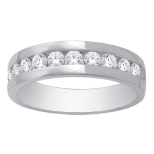 14K 0.98-1.04CT D-BAND RING MEN RDS