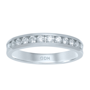 14K 0.46-0.51CT D-BAND RING LDS RDS