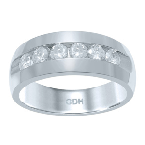 14K 0.96-1.06CT D-RING BAND MENS RDS MACHINE