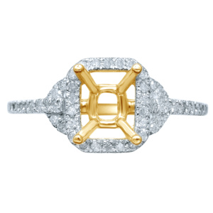 10K 0.18-0.21CT D-RING LDS RDS SEMI-MOUNT