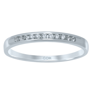 14K 0.09-0.11CT D-RING BAND MACHINE LDS RDS