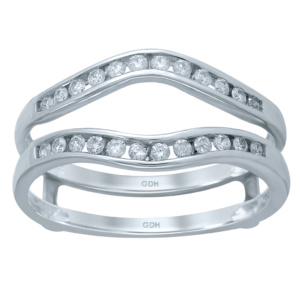 14K 0.24-0.27CT D-RING GUARD LDS RDS