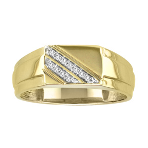 10K 0.07-0.10CT D-RING MENS RDS