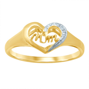 "10K 0.02CT D-RING LDS RSD ""MOM"""