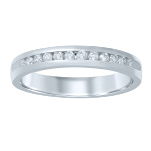 10K 0.21CT D-RING BAND MCHINE LDS RDS