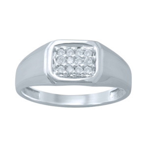 10K 0.18CT D-RING MENS RDS