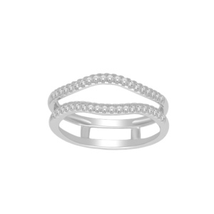 10K 0.20CT D-RING GUARD RDS LDS