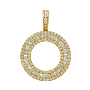 10K 2.30-2.38CT D-PENDANT RDS 18F NO COIN