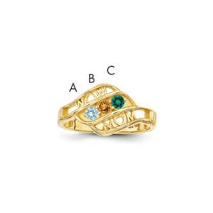14k Genuine Family Jewelry Ring