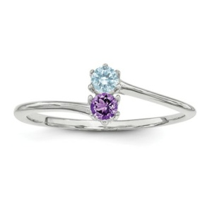 14k White Gold Family Jewelry Ring
