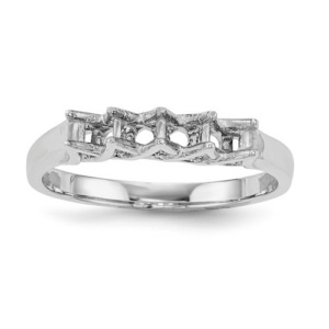 14k White Gold Family Jewelry Ring Mounting