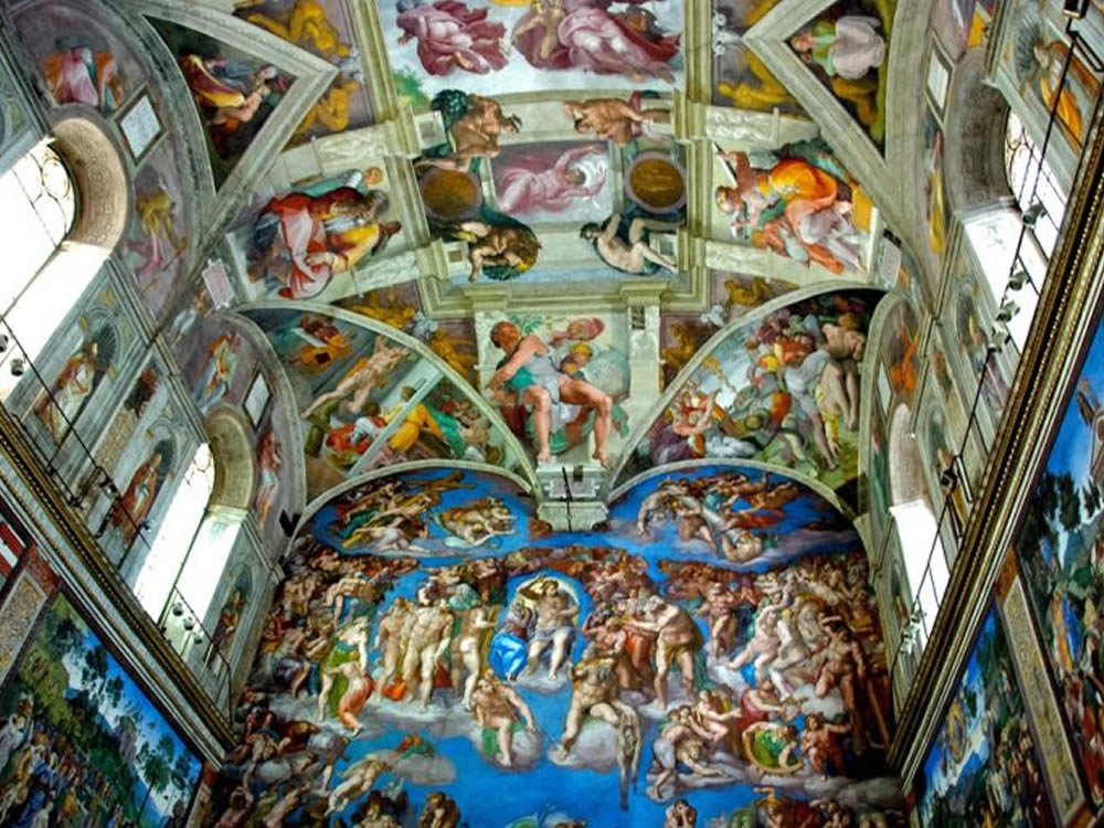 Viewing the Sistine Chapel ceiling is a travel secret discussed in Travel Secrets For A Vacation To Remember
