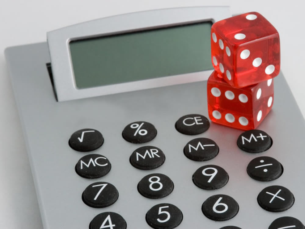 Dice on calculator suggest gambling with your life insurance options