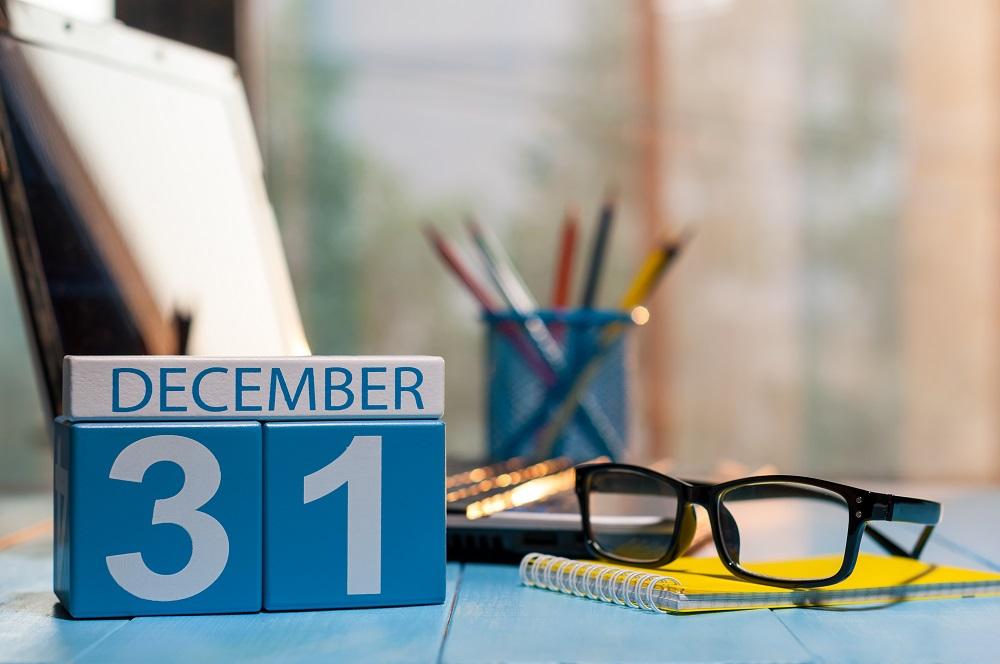 Perpetual calendar for December 31 is a reminder to consider 2018 year-end tax planning in light of tax reform