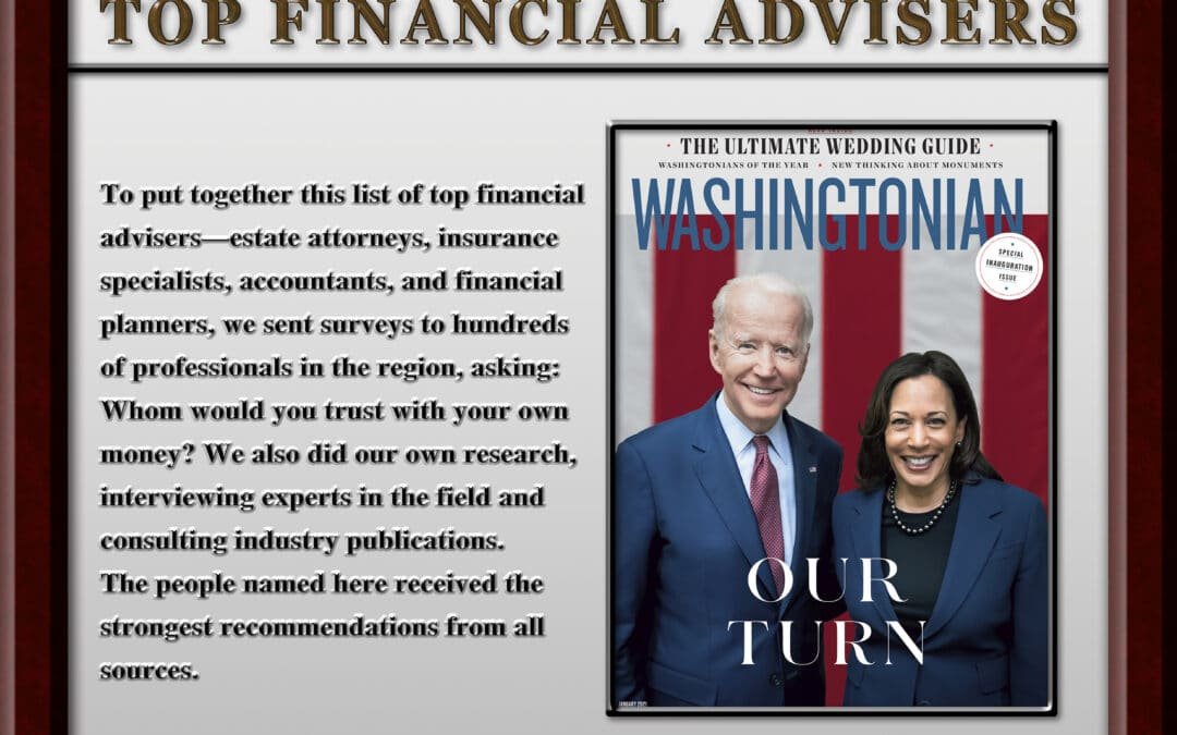 Washingtonian Top Financial Advisor 2021