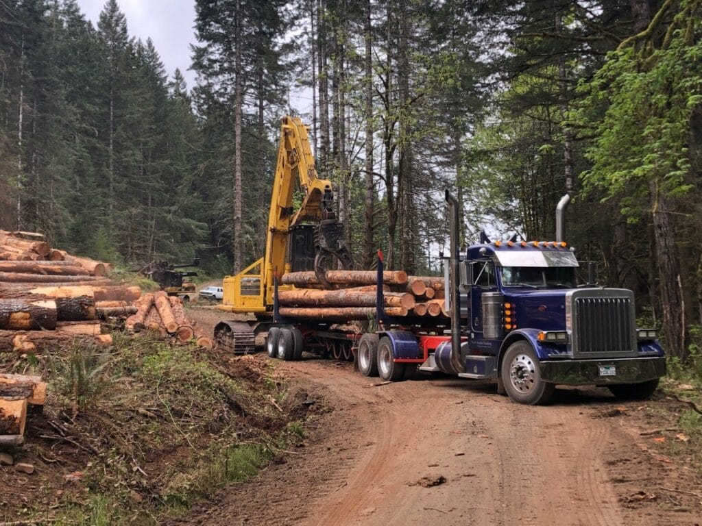 Logging truck with AOL