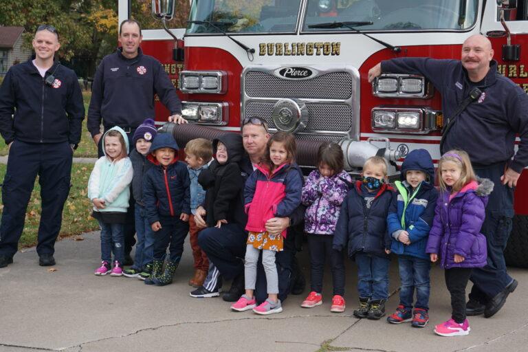 Messiah Lutheran, preschool, young children, field trip, three-year-olds, firemen visit, learning