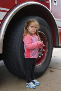 Messiah Lutheran, preschool, young children, field trip, three-year-olds, fire truck,
