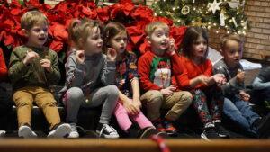 Christmas, Messiah, Lutheran, Preschool, children, singing, church, Burlington, IA