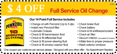 Isiminger Auto 10 Minute Oil Change Coupon
