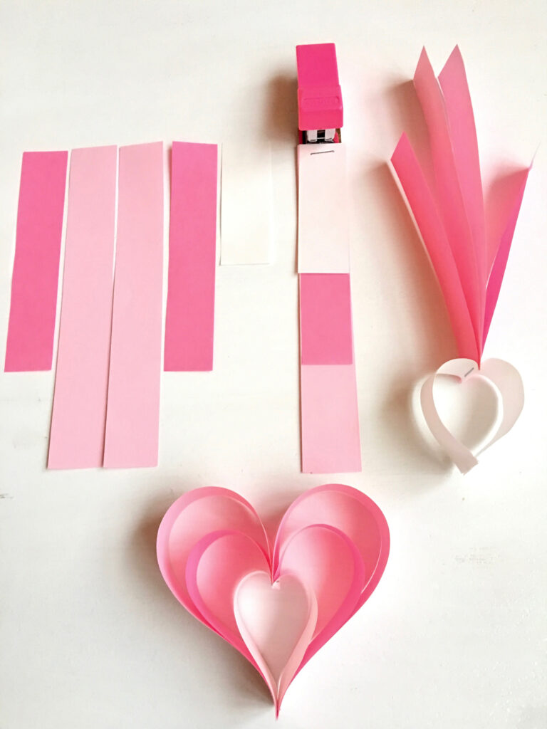 Make Paper Strip Hearts